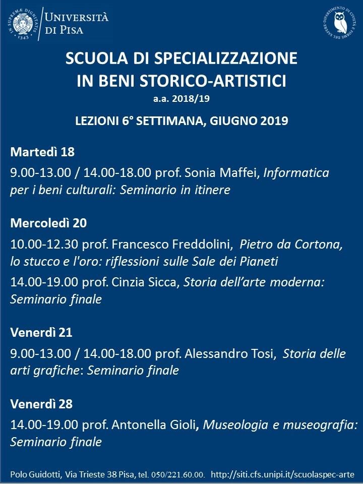 Calendario Unipi.Calendario Dei Corsi 2018 2019